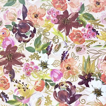 Bulk Ream Roll Floral All-Occasion Gift Wrapping Paper, Twig & Twine