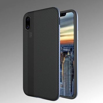 Double-deck Carbon Fiber iPhone X Case