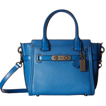 COACH Pebbled Leather Coach Swagger 21 DK/Lapis - Zappos.com Free Shipping BOTH Ways