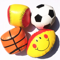 Small Soft Ball Baby Toys Parent-child Kids Toys Smile Rugby Basketball Softball Football Soft Toys for Children Boys Girls