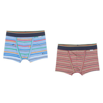 Paul Smith Boys Striped Boxer Shorts Set Of Two | New Collection