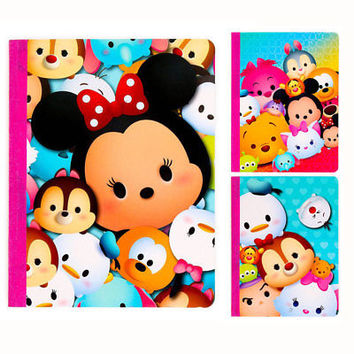 x3 DISNEY Tsum Tsum Mickey Mouse School Composition Book Theme Journal Notebook