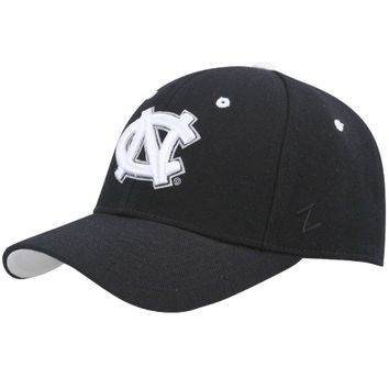 Zephyr North Carolina Tar Heels :UNC: Black and White Fitted Hat