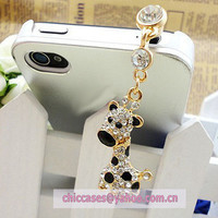 phone charm for iphonephone pluganti dust plug for by blingcase
