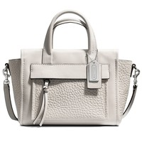 COACH BLEECKER MINI RILEY CARRYALL IN LEATHER