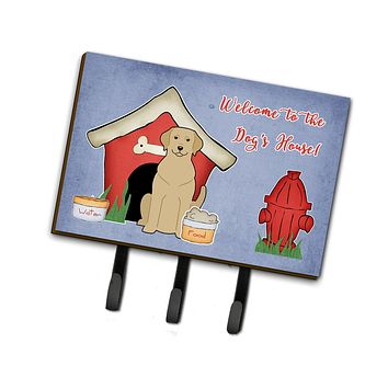 Dog House Collection Yellow Labrador Leash or Key Holder