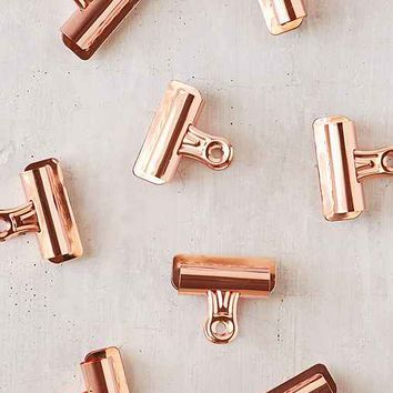 Copper Bulldog Clips Set