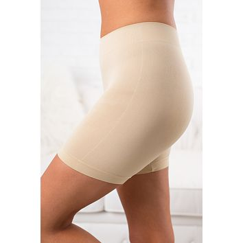 Control Shaping Spandex Shorts (Nude)