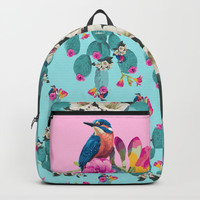 Cactus Hummingbirds Backpack by Lostanaw