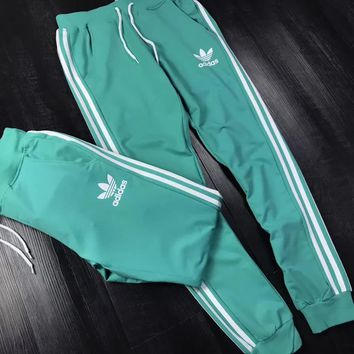 adidas classic unisex three stripe casual sport pants-2