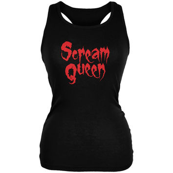 Scream Queen Black Juniors Soft Tank Top