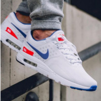 NIKE Air Max White Blue Hook Red Logo Fashion Men Running Sport Casual Cushion Shoes Sneakers G-AA-SDDSL-KHZHXMKH