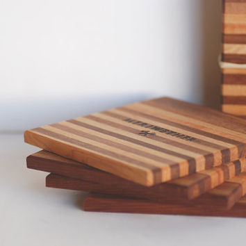 Set of 4 Cedar Coasters