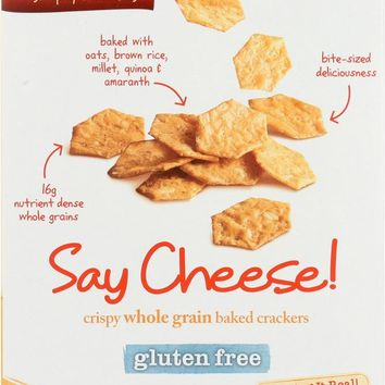 VANS: Natural Foods Gluten Free Say Cheese Crispy Whole Grain Baked Crackers, 5 Oz