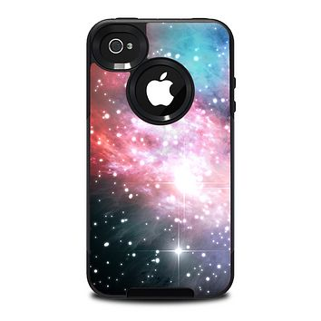 The Colorful Neon Space Nebula Skin for the iPhone 4-4s OtterBox Commuter Case