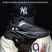 DCC3W Kanye West x Adidas Calabasas Yeezy Boost 700 Runner Sport Shoes Running Shoes Black