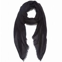 Super Soft Cotton Scarf (Black)