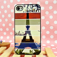 waloli shopping mall — Cool Colourful Eiffel Tower Hard Cover Case For Iphone 4/4s