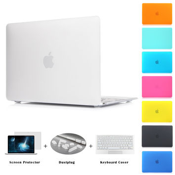 Matte Case New Air 11 Air 13 Pro 13 Pro 15'' New Retina 12 13 15 for macbook Keyboard Cover+Screen Protector