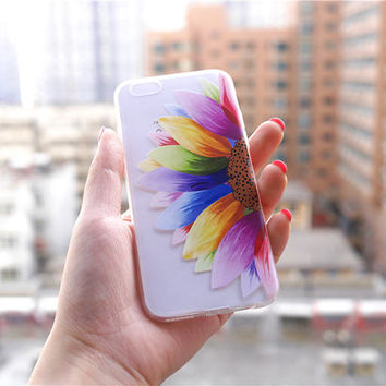 Colorful Mandala Clear Phone Case , Crystal iPhone 6 6s Case , Custom Clear iPhone 6 6s Case , Pressed Clear iPhone 6 Case , Christmas Gift