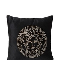 Versace - Embroidered Medusa Icon Pillow