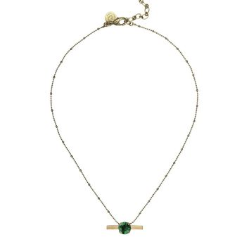 NORA NECKLACE IN EMERALD