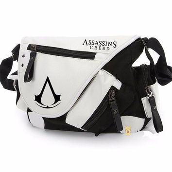 Assassins creed Bags Canvas leather Messenger Shoulder Bag Casual Bag