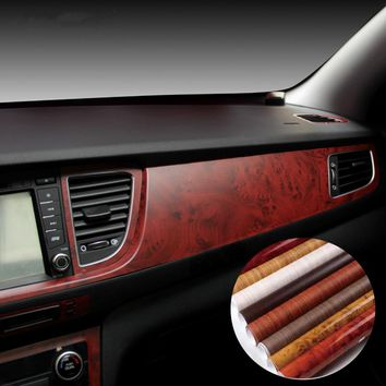 40*100CM Car Styling Stickers Self-adhesive Vinyl Furniture Wood Grain Vinyl Car Wrap Internal Carbon Fiber Water-Proof Sticker