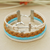 Bracelet-Anchor bracelet-Anchor fashion bracelet- Gift for girl friend or boy friend