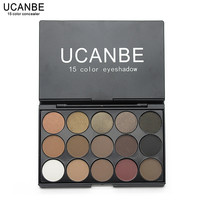 New Fashion 15 Earth Color Matte Pigment Glitter Eyeshadow Palette Cosmetic Makeup Set Nude Eye