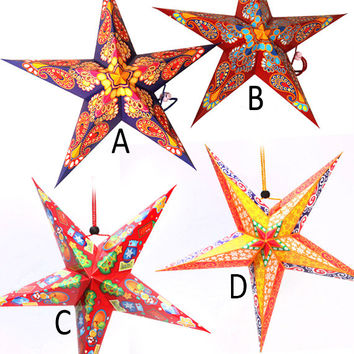 Set 8 pcs Moroccan STARS Lanterns Decors - DIY Party, Wedding, Shower, Birthday, Pub Restaurants