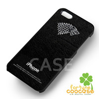 Stark Dire Wolf Game of Thrones Case -stl for iPhone 6S case, iPhone 5s case, iPhone 6 case, iPhone 4S, Samsung S6 Edge