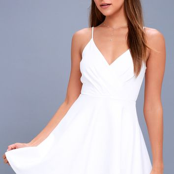 Generosity White Skater Dress