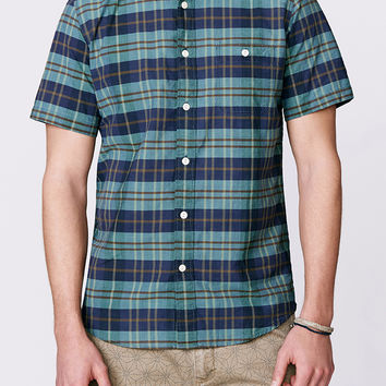 SS Seasons Shirt - Indigo/Teal Plaid