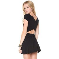 brandy melville black bethan dress 🌻