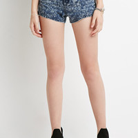 Mineral Wash Denim Shorts