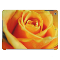 Flame colored rose cover for iPad air