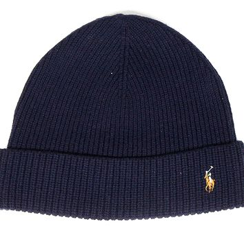 "Polo Beanie ""Navy Blue"""