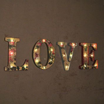 "Beautiful ""LOVE"" Neon LED Sign Vintage Decor Living Room/Bar/Coffee Wall Creative Metal AD Painting Decorative"