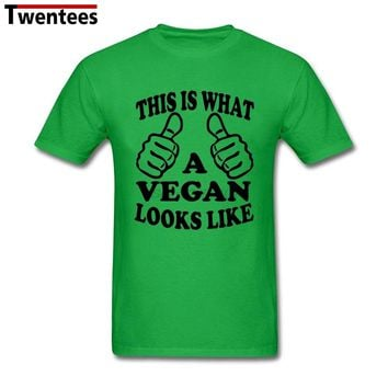 Men's Male A Vegan Looks Like Shirt A Vegan Looks Like T Shirts Men Male