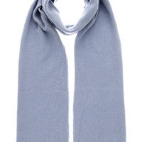 PASHMINA ART NEPAL Grey Blue Scarf - ACCESSORIES | SCARVES | Wool Scarves | PRET-A-BEAUTE.COM