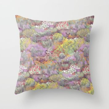 Life in Death Valley Throw Pillow by Ben Geiger