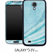 Vintage Blue Textured Swoop Skin for the Samsung Galaxy S4, S3, S2, Galaxy Note 1 or 2