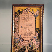 "Maurine Hathaways ""Somewhere"" Poem Framed"