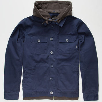 Tavik Droogs Mens Hooded Jacket Navy  In Sizes