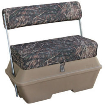 Camo 70 Quart Swingback Cooler Seat, Camouflage Advantage Max 4 - Wise Boat Seats