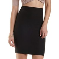 High-Waisted Bodycon Pencil Skirt by Charlotte Russe - Black