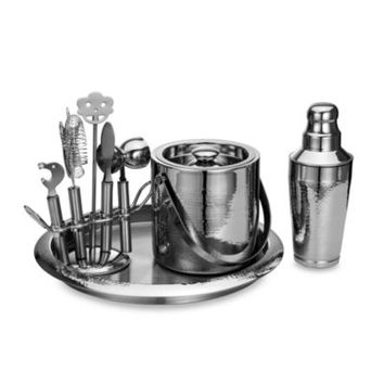 Godinger Hammered Stainless Steel Bar Set