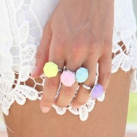 SABO SKIRT Pastel Rock Rings - (No Colour Specified) - 25.0000