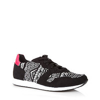 Black Aztec Panel Trainers